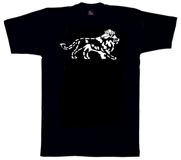 Reggae1128 – Lion of Judah Stencil Style T Shirt