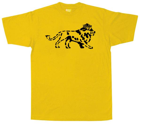 Reggae1129 – Lion of Judah Stencil Style T Shirt