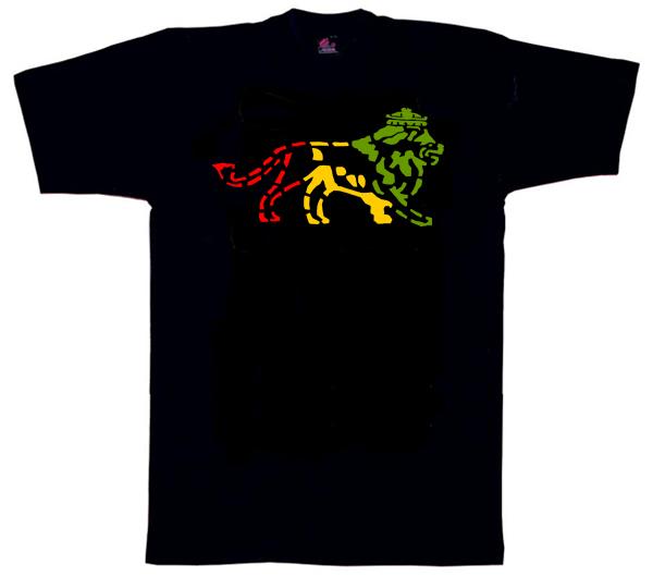 Reggae1130 – Lion of Judah Stencil Style T Shirt